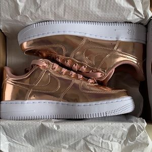 Women's Rose Gold Nike Air Force 1 SP